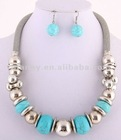 2012 Fashion Costume Wholesale Turquoise Stone Magnetic Jewelry Set