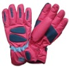 waterproof nylon taslon ski gloves