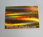 Hologram foil for cigarrete packing