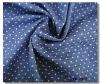 cotton poly spandex print denim fabric
