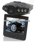 F198 Car DVR Car black box with 2.5 TFT LCD screen. 120 degree angle and 270 degree rotating screen.F198 6 LEDS for IR DVR-S903