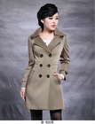 2012 latest design grow long sleeve coat for women