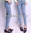 ei1218 Cheap Price Washed Body Sculpting Tight Woman Jeans