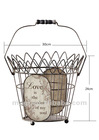 Antique Metal Storage Basket For Home&Garden