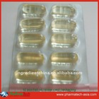 Packaging blister Fish oil 1000mg softgel 10pcs/blister
