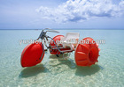 Aquatic tricycle red water bikes