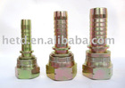 22611 HYDARULIC STEEL HOSE FITTING WITH YELLOW ZINC PLATED