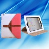Separable buckle design 360 degree rotation PU leather case for IPAD