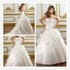 Goingwedding sweetheart white pleated bling guangzhou civil wedding dress 2013 MR017