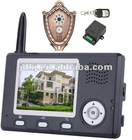 "3.5"" wireless video peephole door camera"