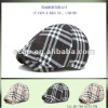 fashion beige check newsboy beret plat cap hat ccap-0234