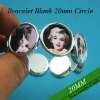 20mm Round Bezel Bracelet Blanks Flexible Size Great to Make Photo Bracelets with Clear Glass or Plastic Stickers