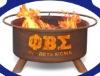 Phi Beta Sigma metal fireplace