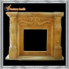beige indoor carved fireplace mantel YL-B202