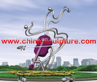 stainless steel modern abstract sculpture,statue for garden