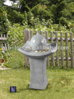 solar water feature for garden deco
