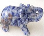 hand carved elephant gemstone carving