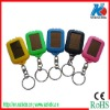 Plastic solar led key ring