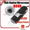 2MP 800X USB Digital Microscope , 8 LED Magnifier Camera PC Computer