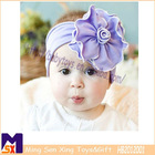 amazing purple baby elastic hairband flower elastic baby hairbands