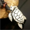 Ethnic Tibet Resin tortoise Pendant & wood Hemp Cord Necklace