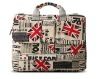 Newspaper England flad Laptop Bag Popular Durable waterproof&shockproof computer bag for tablet PC 2012