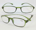 Green round frame reading glasses with Arcylic lens