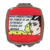 Rectangle Metal wholesale pocket mirror in Red
