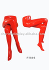 Colored female sitting legs display FRP mannequins