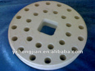 Titanium oxide ceramic part for textile machinery