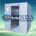 Clean room Interlocking channel cargo air shower