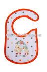 Catasy 3 layers TPU waterproof embroidered with velcro closure baby bib