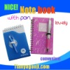 Fashion notebook with pen-new arrivel