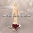 jesus shaped craft gift/acrylic crafts jesus with red rose base