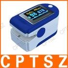 """1.2"""" LCD Fingertip Pulse Oximeter SpO2 Monitor - Blue (2 x AAA)"""