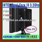 Aseembly small pc Intel AMD i7 i5 i3 Pentium dual core Atom AMD FX APU A8 A6 E A4 desktop computer Customization of I/O Hardware