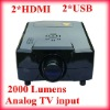 2*HDMI,2*USB 2000 lumens Home Theater Projector