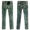 Ladies snake foil printed denim Jean (2012W-34)