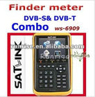 DVB-S satellite Terrestrial Combo Meter WS6909 digital tv satellite finder sat finder