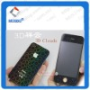 Factory Supply A Grade South Korea PET 3D Diamond Full Body(front + back) Protective Film for iPhone 4/4S