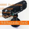 newest dual camera car black box Night vision X8000C x8000