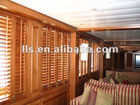 interior adjustable wood grain plantation shutter louvers