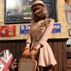 Fashion women winter dress coats 1615#
