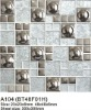 Glass mosaic metal mosaic SA104 mix colour