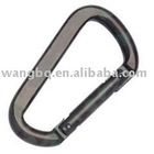 Aluminum snap hook D type with pin