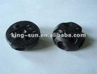 Black plastic injection product curtain rail/curtain accessory