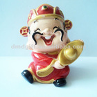 Resin god of wealth figurine craft for home decoration