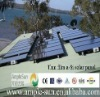 Amorphous silicon solar panel on roof
