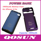 1900mAh Battery Case for iPhone 4/4s
