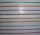 shiny metallic black elastic cord